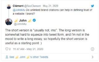 Google о текстовом (нессылочном) упоминании сайта