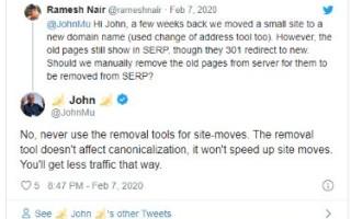 Google: при переезде сайта не нужно намеренно удалять старые страницы