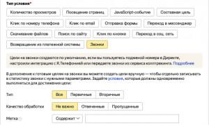 В Яндекс.Метрике появились новые цели по звонкам