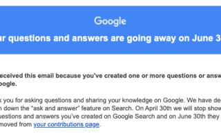 Google убрал ответы на вопросы из результатов поиска