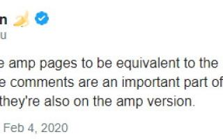 Google: AMP-версия должна быть эквивалентна обычной версии страницы