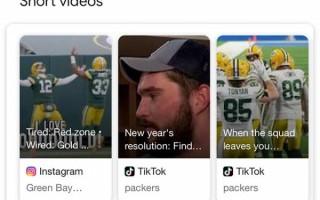 Google добавил короткие видео из Instagram и TikTok в карусель