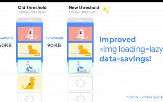 Lazy loading изображений в Chrome теперь можно включать без скриптов