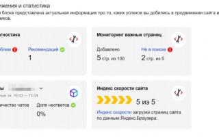 Яндекс.Вебмастер начал рассчитывать индекс скорости сайта