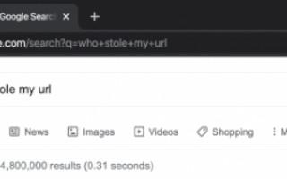 В браузере Google Chrome в адресной строке пропали URL