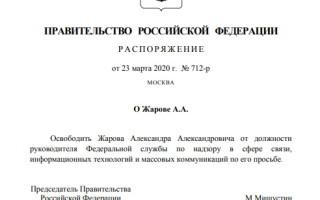 Мишустин освободил Жарова от должности главы Роскомнадзора