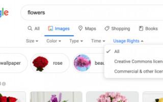 В поиске по картинкам Google появился значок лицензионных изображений