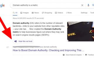 Google экспериментирует с новой кнопкой для озвучки результата в поиске