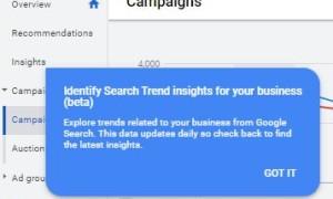 Google продолжает внедрять новый инструмент Insights среди рекламодателей