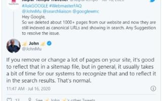 Google: файл Sitemap нужно периодически чистить вручную