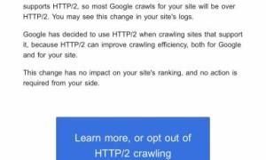 Google заявил о старте сканирования по HTTP/2