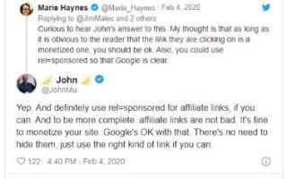 Google: в партнерских ссылках нет ничего страшного