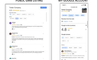 GMB перестал публиковать отзывы пользователей