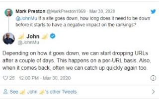Сайт «лег», когда ждать деиндексацию в Google?
