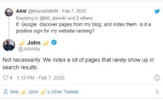 Google о связи индексации и ранжирования в SERP